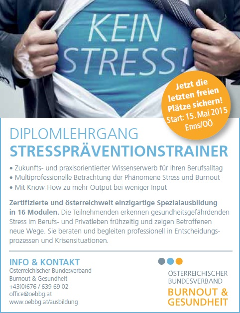 Diplom Stresspräventionstrainer